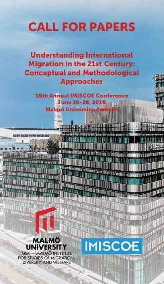 Call for participation: Sessions on methods of quantitative migration research at IMISCOE 2019 (June 26-28, 2019 in Malmö)