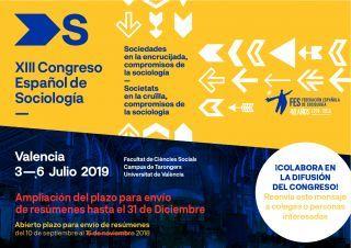 Ampliado el plazo para el envío de resúmenes al XIII Congreso Español de Sociología