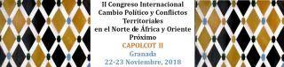 """Congreso Internacional """"Cambio político y Conflictos territoriales en el Norte de África y Oriente Próximo"""" (CAPOLCOT II)"""