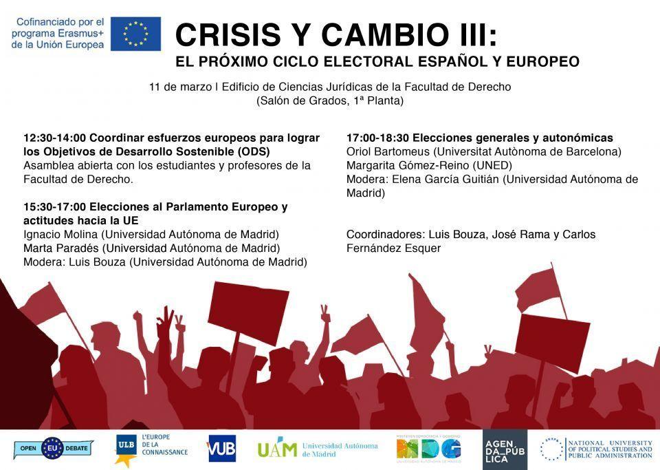 Jornada de Crisis y Cambio como continuación de la serie que comenzó hace ya dos años. Madrid, 11 de marzo