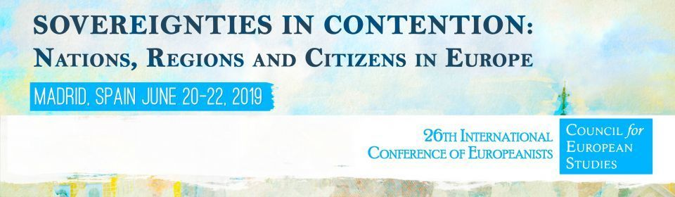 Call for volunteers at the 26th Int'l Conference of Europeanists in Madrid, 19-22 June 2019