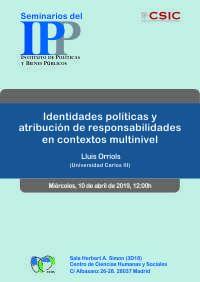 Seminario del Instituto de Políticas y Bienes Públicos (IPP-CSIC),10 de abril a las 12.00 hs.