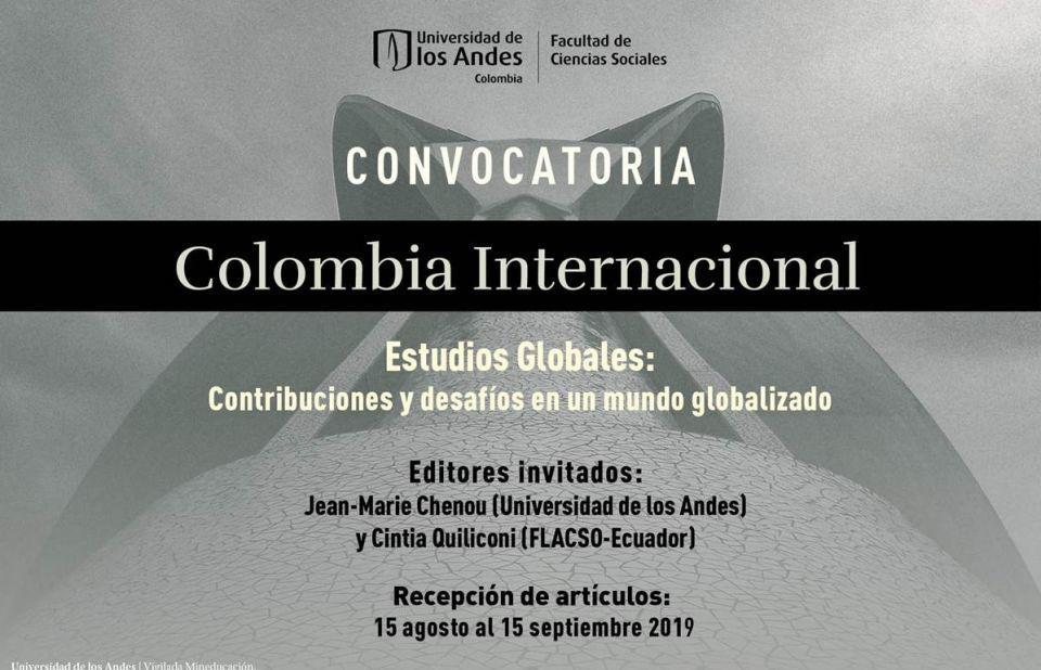 [Colombia Internacional-Universidad de los Andes] Convocatoria número especial sobre Estudios Globales