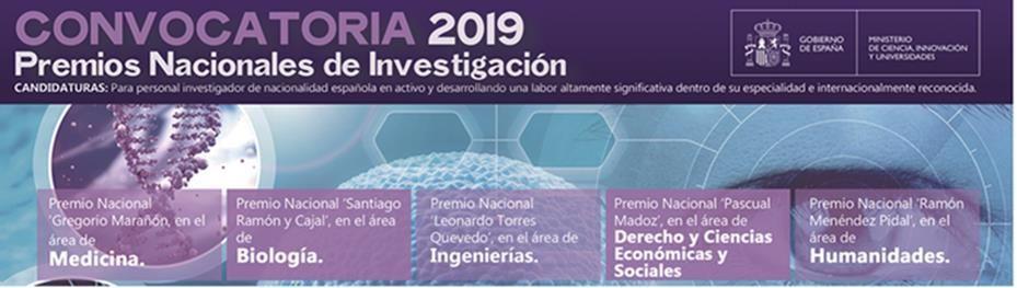 Convocatoria Premios Nacionales de Investigación - 25 de junio