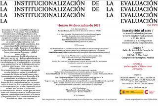 Seminario Institucionalización de la Evaluación - UCM -  4 oct.