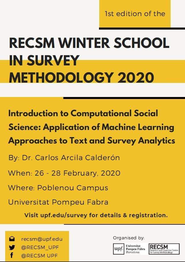 RECSM Winter School in Survey Methodology 2020