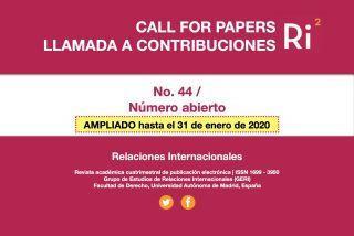 Ampliación Llamada a Contribuciones - Relaciones Internacionales nº 44