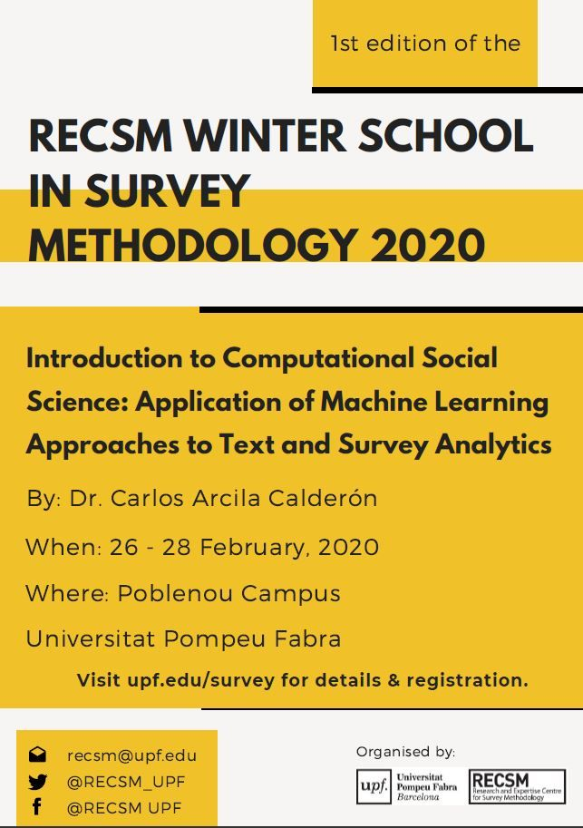 One month left - The Barcelona RECSM Winter School in Survey Methodology