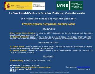 """Presentación del libro """"Presidencialismo Comparado"""", de Dieter Nohlen y Antonio Garrido"""