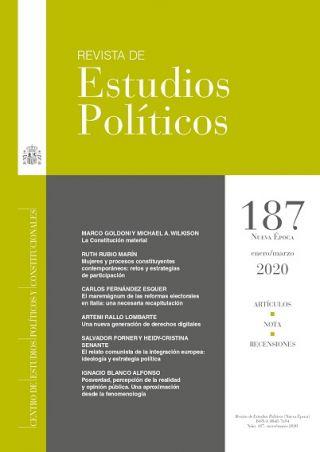 Disponible el último número (187) de la Revista de Estudios Políticos - CEPC