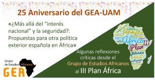Análisis crítico del GEA sobre el III Plan África