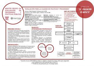 Abierto proceso de selección 2020-2021 Máster en Evaluación UCM