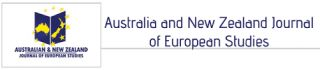 Call for papers - Australia New Zealand Journal of European Studies (ANZJES)