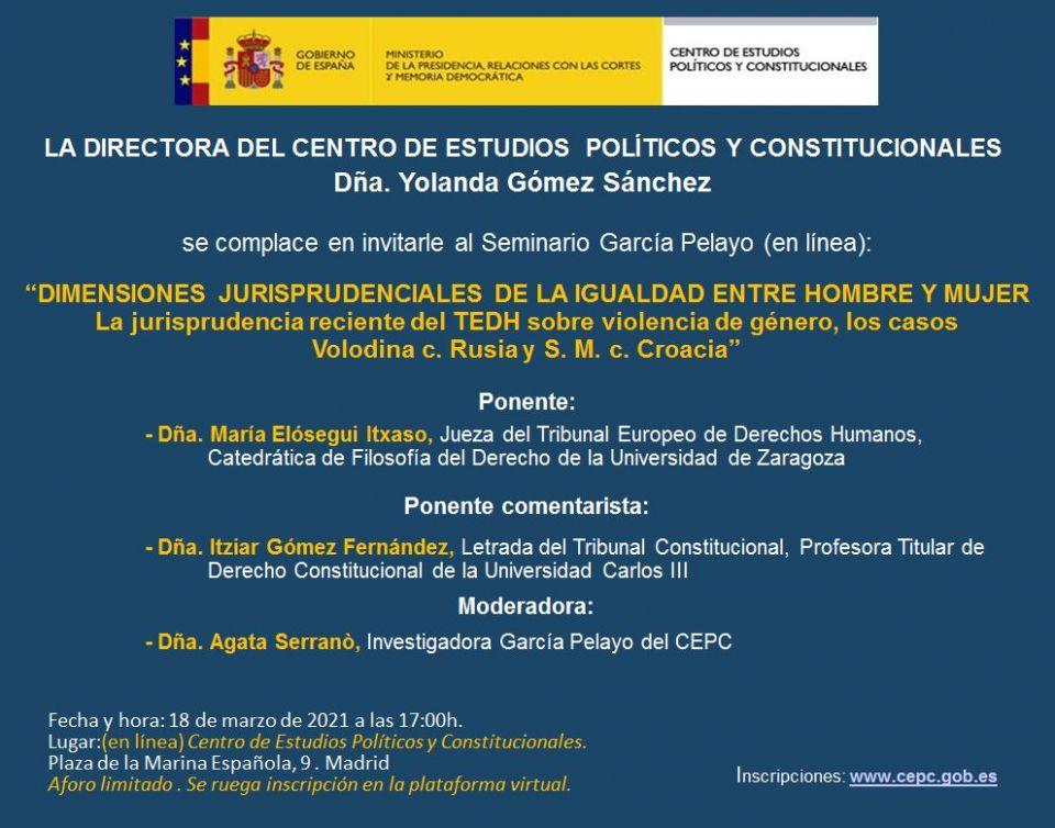 """CEPC-Seminario García Pelayo """"La Crisis de los Refugiados: ¿Cómo dar estabilidad a una Europa en movimiento?"""""""
