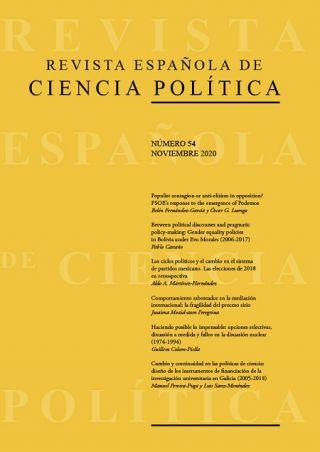 Disponible el nº54, noviembre 2020, de la Revista Española de Ciencia Política