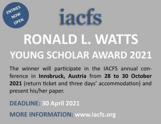 Ronald L. Watts Young Researcher Award 2021 - Entries Now Open