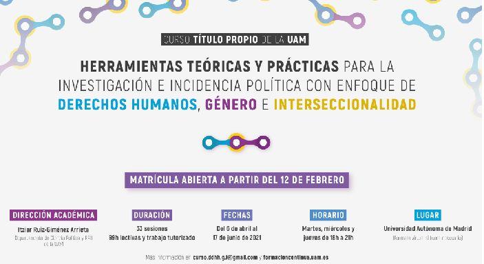 Nuevo curso UAM · Herramientas teóricas y prácticas para la investigación e incidencia política