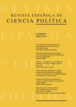 Ya disponible el número 55, marzo 2021, de la Revista Española de Ciencia Política (RECP)