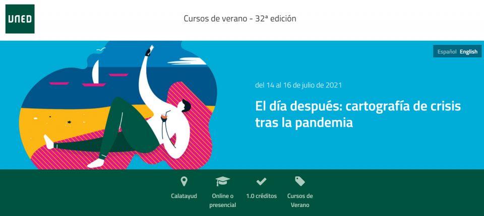 """Curso de verano de la UNED: """"El día después: cartografía de crisis tras la pandemia"""" - 14-16 de julio"""