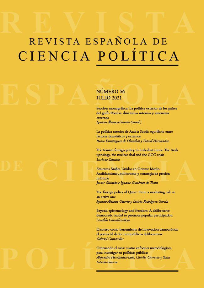 Ya disponible el número 56, julio 2021, de la Revista Española de Ciencia Política (RECP)