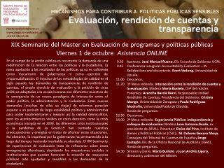 Abierta la inscripción al Seminario online sobre el Máster Evaluación de Programas y Políticas Públicas UCM