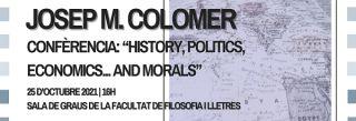 Conferencia UAB: 'History, Politics, Economics ... and Morals' - 25 Octubre